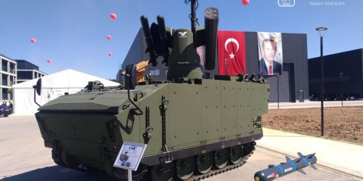 ROKETSAN's UMTAS and Cirit missiles integrated to FNSS KAPLAN-10: YALMAN